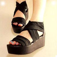 4t1 xg 2014 women platform sandals open toe shoe women's  gladiator wedges slippers home  massage beach hight heel slipper