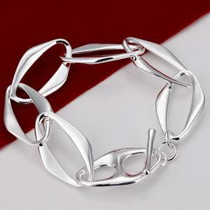 Wholesale Factory Price 925 Sterling Silver Bracelet 925 Silver Banana Bracelets Fashion Jewelry Jewellry Free Shipping H211(China (Mainland))