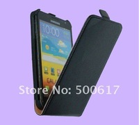 High Quality Genuine leather case for Samsung Galaxy Note i9220 N7000 leather magnetic enclosure Free Shipping UPS DHL EMS HKPAM