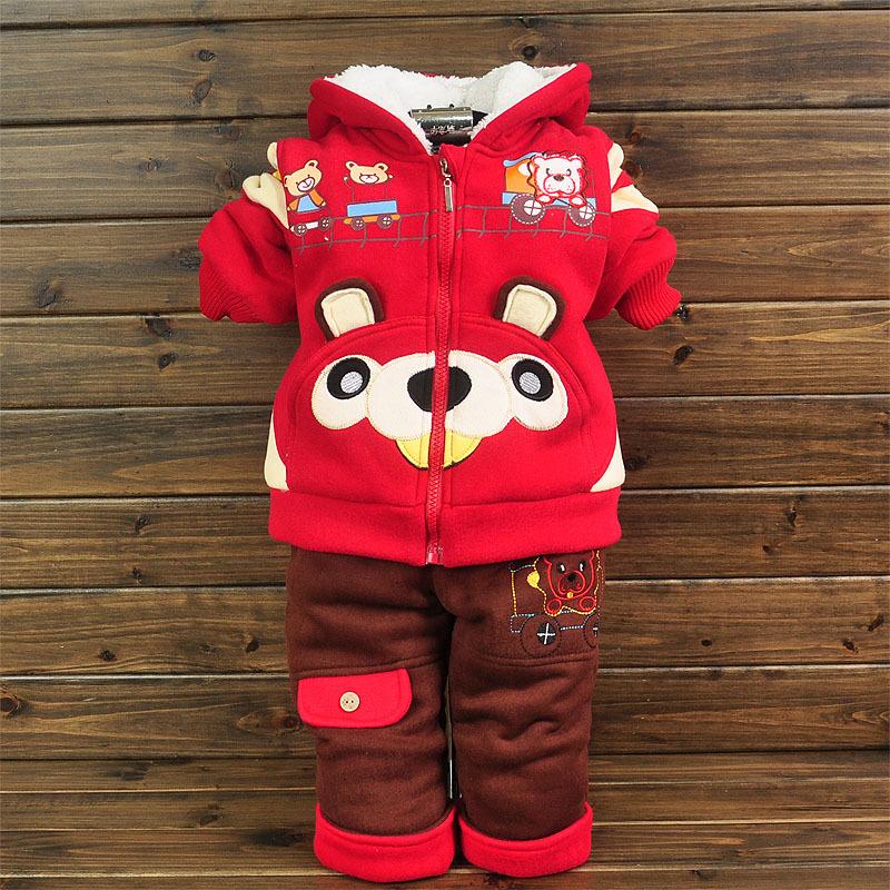 2013 outono nova infantil e roupas de inverno de algodão acolchoado jaqueta ternos engrossar terno esportes meninos meninas(China (Mainland))