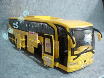 Golden dragon bus luxury open the door bus alloy car model
