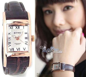Ikey fashion roman numerals women's watch vintage rose gold ladies watch strap table watch