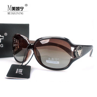 2013 New fashion brand Anti-uv radiation women's polarized sunglasses big frame designer sunglass Free shipping M003