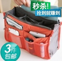 Large capacity 3 multifunctional bag in bag storage organize bags storage bag cosmetic bag