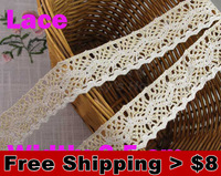 10 meters/ lot  3.5cm width Lace for fabric/home furnishing  warp knitting DIY Garment Accessories free shipping#1240