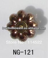 pumpkin round plated ceramic knobs antique furniture knob wardrobe cupboard knobs drawer dresser knobs cabinet pulls NG-121