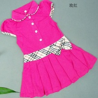 5 pcs/lot 2013 Summer Girls Sports Design Children Kids Short Sleeve Dresses HOT Sale AA5080