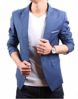 2013 casual suit male slim blazer coat fashion single suit