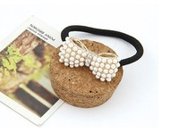 Min.order is $ 8 (mixed order)free shipping Stylish /Bowknot headband classic jewelry Super sweet pearl bowknot hairbands