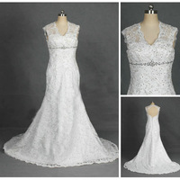 Free shipping 2013 Free Shipping ! Mermaid Applique Organza Cap Sleeve Shinning Beading Wedding Dresses