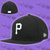 12 hiphop hat hip-hop baseball cap dome flat brim cap pirate black and white