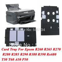 Free Shipping 1PCS Inkjet Printer Card Tray For Epson R260 R265 R270 R280 R285 R290 R380 R390 RX580 RX590 RX680 T50 T60 A50 P50