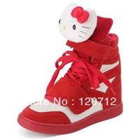 High in the spring of 2013 the new hello Kitty han edition tide leisure shoes increased thick bottom platform shoes for women
