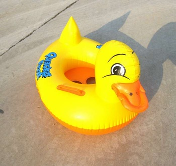 Child duck boat child swim ring inflatable boat water toys inflatable ducks swimming ring Seat type