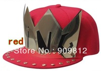 Free Shipping 2013 punk style, Paste KING sequin flat brimmed hat, Hip-hop baseball cap, Bboy hats, Snapback caps