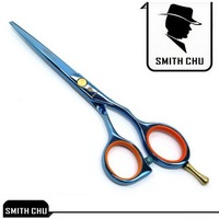Blue hairdressing scissors 5.5 INCH SMITH CHU Hair cut scissors Simple package 1PCS/LOT BL-1 NEW