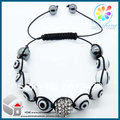 Fashion Shamballa Jewelry Rope Handmade 10MM Bead Shamballa Bracelet for Men Free shipping