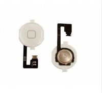 New  White Replacement Home Button Key Repair Part Flex Cable For iPhone 4 / 4G