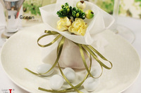 Free ship Italy style CONFETTI love yarn bags ,double layers  , 6 colors , Imported fabrics and artificial flowers,hot sale
