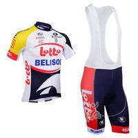 2013 LOTTO team Short Sleeve Cycling Jerseys & Cycling Bib Shorts Set,Cycling Wear,Cycling Clothing for Men