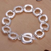 H106 Wholesale! 925 silver bracelet 925 silver fashion jewelry charm bracelet Square Bracelet