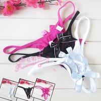Sexy panties double bow open-crotch t women's sexy underwear sexy thong adult supplies