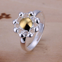 R112 Wholesale 925 silver ring, 925 silver fashion jewelry, Chrysanthemum Ring