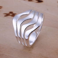 R123 Wholesale 925 silver ring, 925 silver fashion jewelry, Water Waves Ring