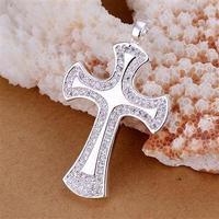 P236 fashion jewelry chains necklace 925 silver pendant Ax Cross Pendant