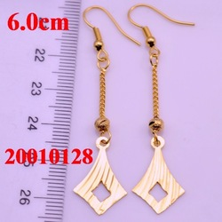 18K gp earbob,Wedding gifts Jewelry,Fashion Jewelry With hollowed-out Design,India gold jewelry #210128(China (Mainland))