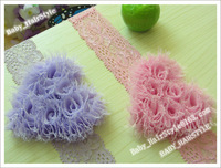 8pcs Baby Love Flower + Elastic Lace Headband Hair band Hair Accessories for Girl Kids Headwear