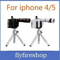 Free Shipping Fashion Phone 8X Zoom Telephoto photography telephoto lens For Apple Iphone4/5