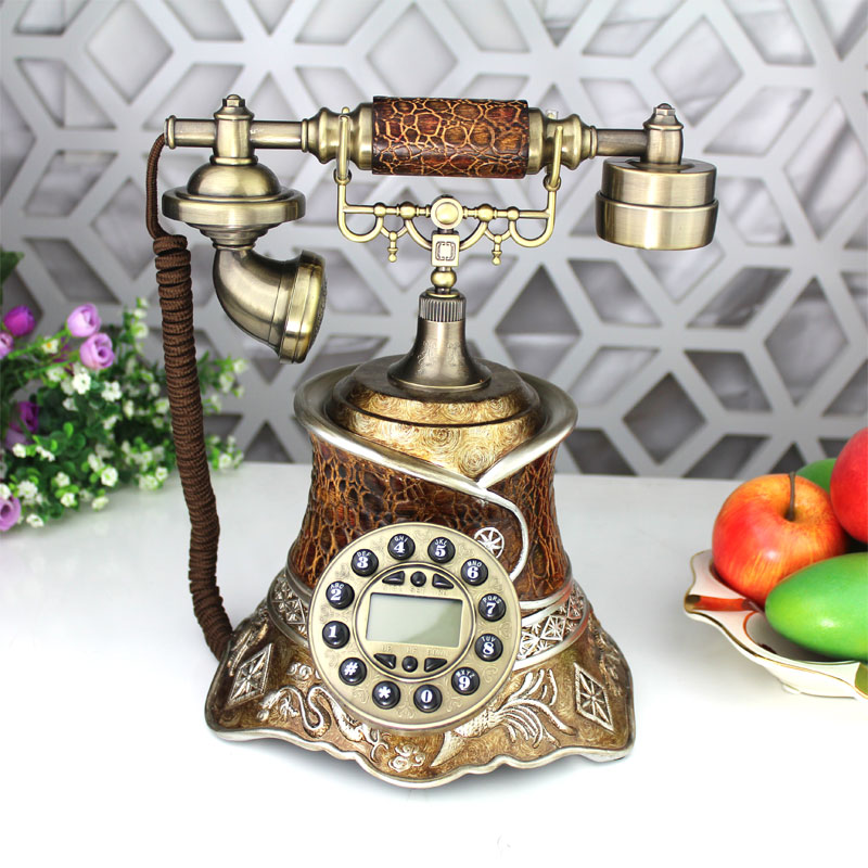 Fashion vintage antique old fashioned technology antique telephone belt caller id(China (Mainland))