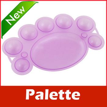 2 Nail Art Dappen Dish for Paint Color Mixing Palette