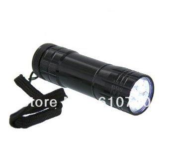 FREE SHIPPING 10PCS/LOT 9 LED Mini Torch Flashlight Lamp For Camp Picnic Hiking(China (Mainland))