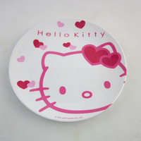 free shipping  hello kitty plate fruit plate round tray 18cm diameter cartoon tableware kids gift