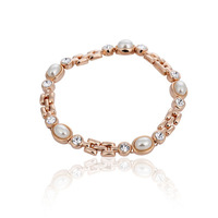 Fashion accessories austria crystal brief elegant pearl crystal bracelet female gift