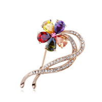 Multicolour cz aaa austria crystal colorful brooch quality eloquence corsage gift