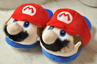 Super Mario Slippers Mario Slipper  Red 1PAIR