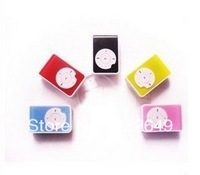 500PCS  MINI clip MP3 Player with Micro TF/SD card support 1GB 2GB 4GB 8GB Slot with cable+earphone  FREE DHL SHIPPING