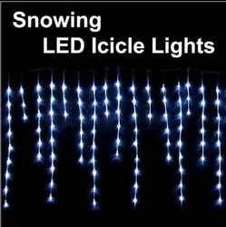 Xmas lights 100 LED snowing icicle lights curtain lights for Christmas wedding party garden lamps(China (Mainland))