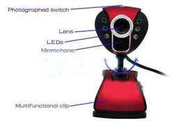 30.0 Mega 6 LED USB Webcam Web Cam PC Camera with Mic(China (Mainland))