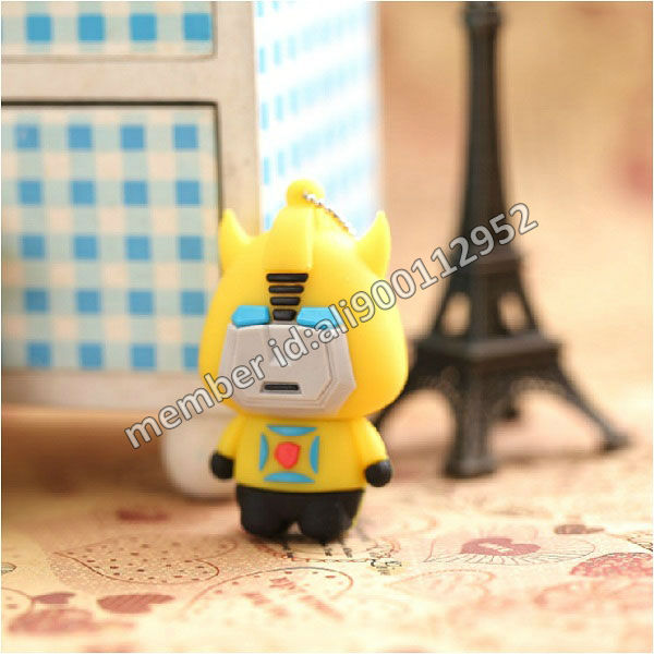 Novelty Cartoon Mini Transformer Bumblebee Model USB Thumb Drive 2GB/4GB/8GB/16GB,Funny Style 3D Bumblebee Robot USB Flash Drive(China (Mainland))