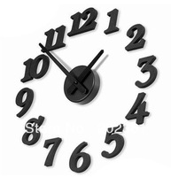 wholesales 36pcs/lots Creative DIY wall clock / digital wall clock