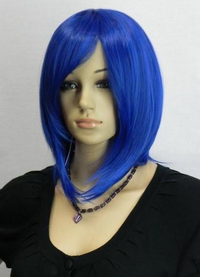 Bright Blue Short Hair Hot Short Bright Gem Blue