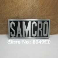 SAMCRO belt buckle SONS OF ANARCH with pewter finish FP-03223 suitable for 4cm wideth belt with continous stock