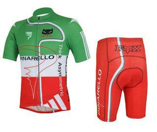 Men's Unique Short Sleeve Cycling Suit 2013 PINARELLO GREEN RED Jersey + Shorts with coolmax functional pad MIX ORDER