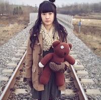 Free Shipping 22'' (55cm) Big Size Mr Bean Teddy Bear Animal Stuffed Plush Toy, Brown Figure Doll Child Christmas Gift