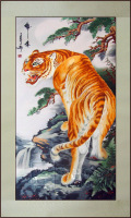 Suzhou embroidery tiger embroidery suzhou embroidery decorative painting embroidery soft mounting gift