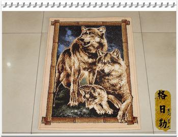 2015 настоящее новый простой ткани росписи ковер 100% шерсть тонкой кашемир утолщение шифрования гобелен 50 см x 70 см спальне исследование